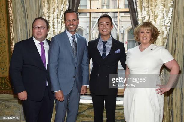 David Shenman Fred Dixon Hyukbum Kwon and Becky Hubbard attend the 2017 Lotte New York Palace Invitational at Lotte New York Palace on August 24 2017...