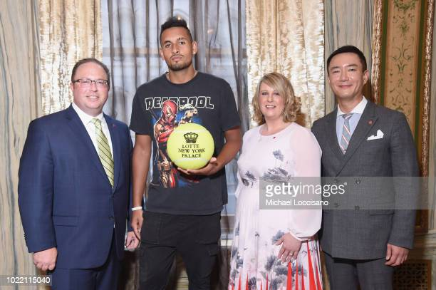 David Shenman Nick Kyrgios Backy Hubbard and Hyukbum Kwon attend 2018 Lotte New York Palace Invitational on August 23 2018 in New York City