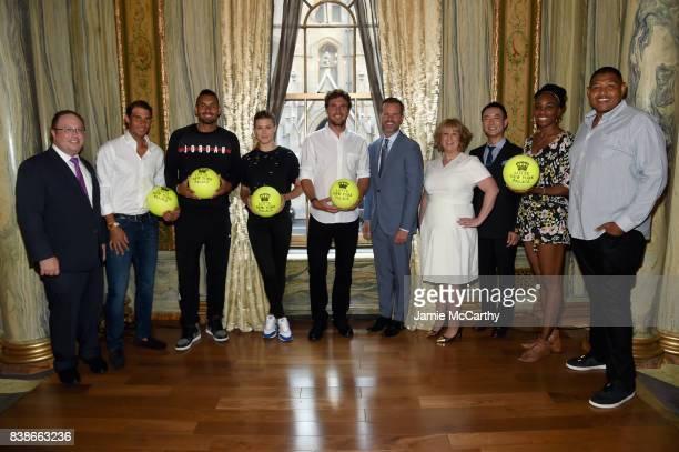 David Shenman Rafael Nadal Nick Kyrgios Eugenie Bouchard Mischa Zverev Fred Dixon Becky Hubbard Hyukbum Kwon Venus Williams and Omar Miller attend...
