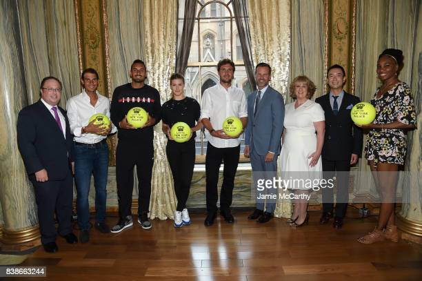 David Shenman Rafael Nadal Nick Kyrgios Eugenie Bouchard Mischa Zverev Fred Dixon Becky Hubbard Hyukbum Kwon Venus Williams and Omar Miller attend...