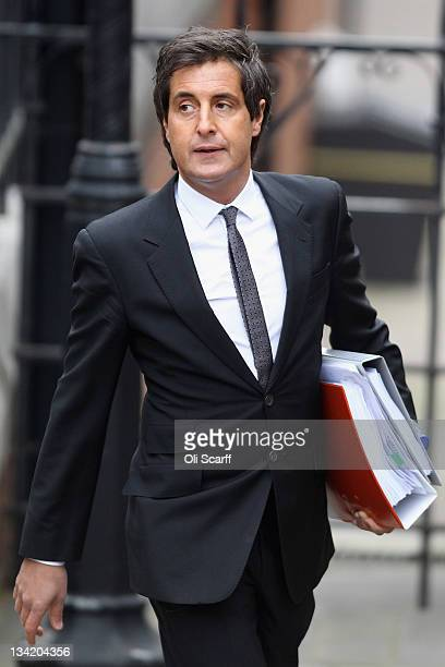 David Sherborne a lawyer representing several celebrities who have given evidence to The Leveson Inquiry arrives at The Royal Courts of Justice on...