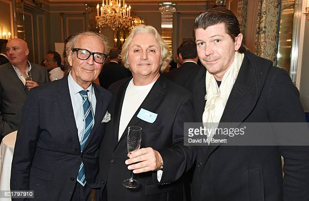 David Shilling David Emanuel and David Byrne attend the Sean Edwards Foundation cocktail celebration to announce the 4th Annual Sean Edwards Memorial...