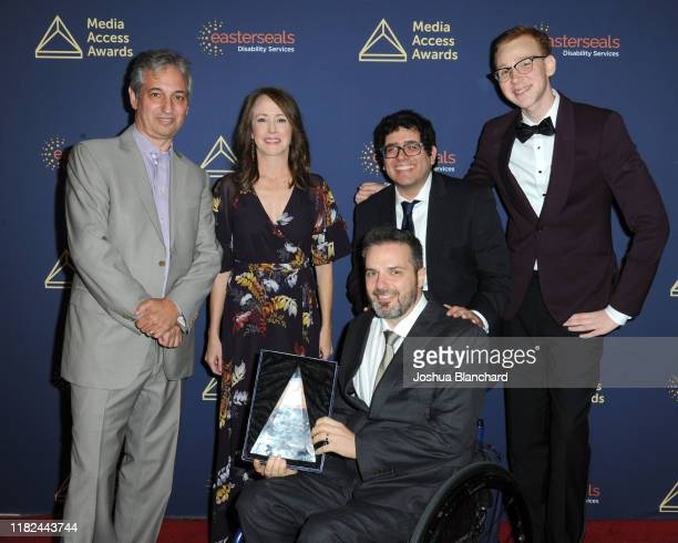 David Shore, Erin Gunn, David Renaud, Mark Rozeman and Coby Bird attend the 40th Annual Media Access Awards In Partnership With Easterseals at The...
