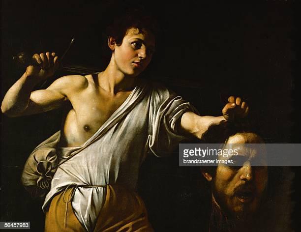 David showing Goliath's head Oil on poplar wood 1605 905 x 116 cm Inv 125 [Goliaths Kopf Gemaelde1605]