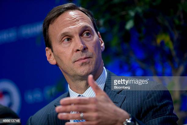 David Siegel chief executive officer of Frontier Airlines speaks during a panel discussion at the US Chamber of Commerce Foundation's 14th Annual...