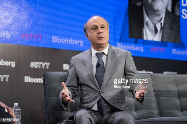 David Siegel cofounder of Two Sigma Investments LP speaks during a Bloomberg Technology event in New York US on Wednesday Sept 13 2017 The event...