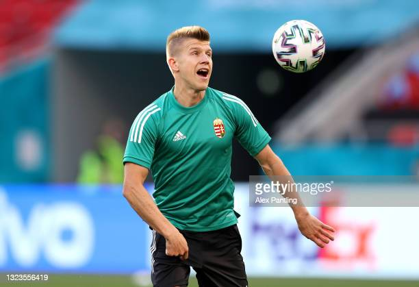 David Siger during the Hungary Training Session ahead of the Euro 2020 Group F match between Hungary and Portugal at Puskas Arena on June 14, 2021 in...