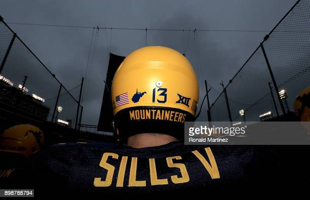 David Sills V of the West Virginia Mountaineers walks on the field during Zaxby's Heart of Dallas Bowl against the Utah Utes on December 26 2017 at...