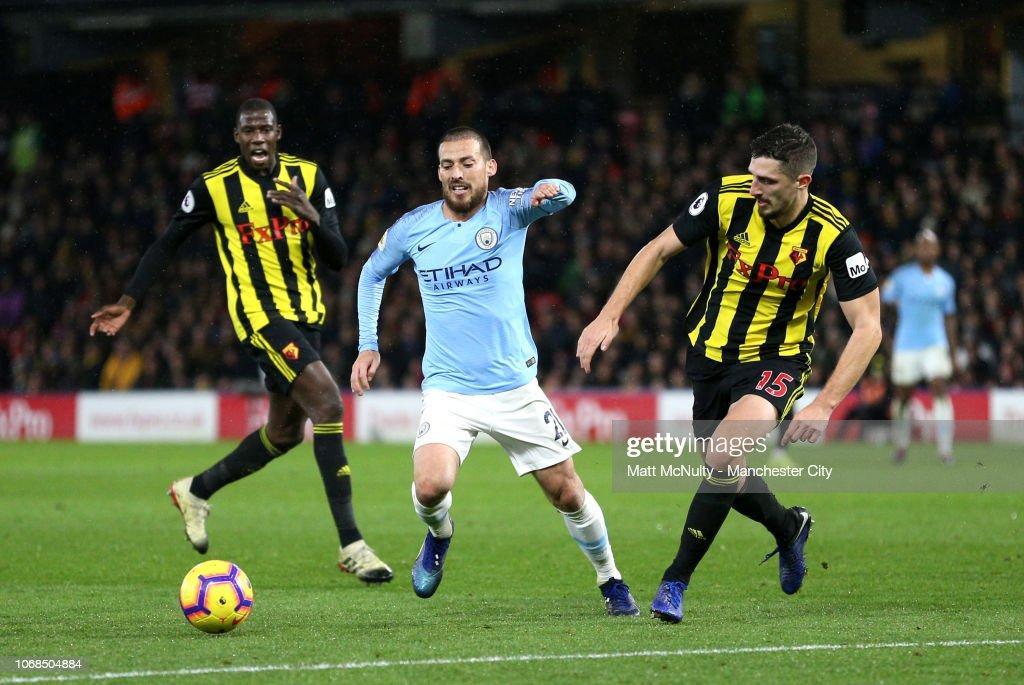 Watford FC v Manchester City - Premier League : Nachrichtenfoto
