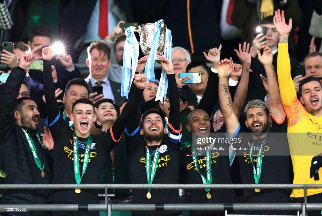 Aston Villa v Manchester City - Carabao Cup Final : Nieuwsfoto's