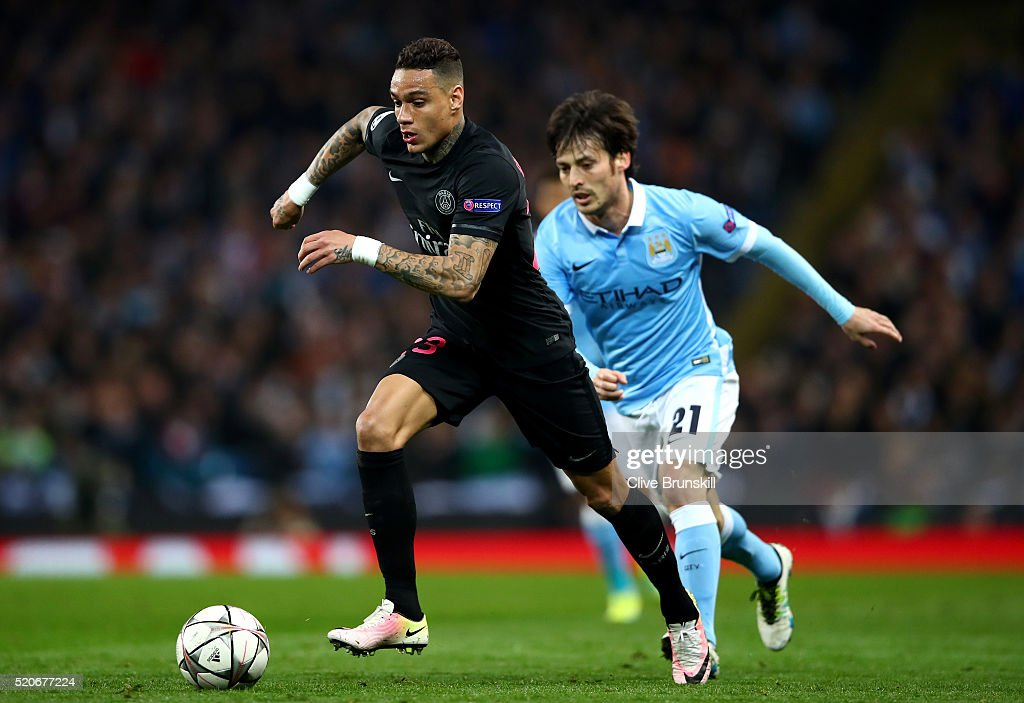Manchester City FC v Paris Saint-Germain - UEFA Champions League Quarter Final: Second Leg : News Photo