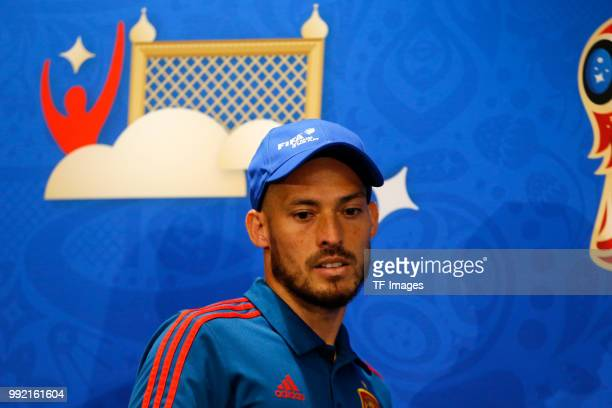 David Silva of Spain attends the press conference prior to a training session on June 30 2018 in Moscow Russia