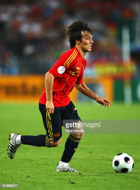 David Silva of Spain in action during the UEFA EURO 2008 Quarter Final match between Spain and Italy at Ernst Happel Stadion on June 22 2008 in...
