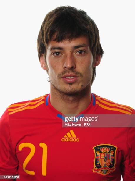 David Silva of Spain poses during the official Fifa World Cup 2010 portrait session on June 13 2010 in Potchefstroom South Africa