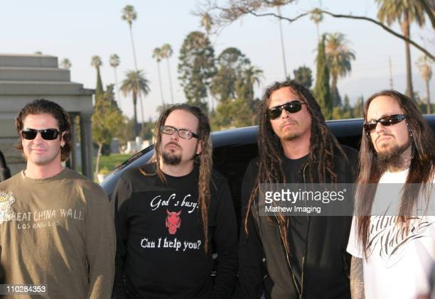LR David Silveria Jonathan Davis James Munky Shaffer and Fieldy of KORN