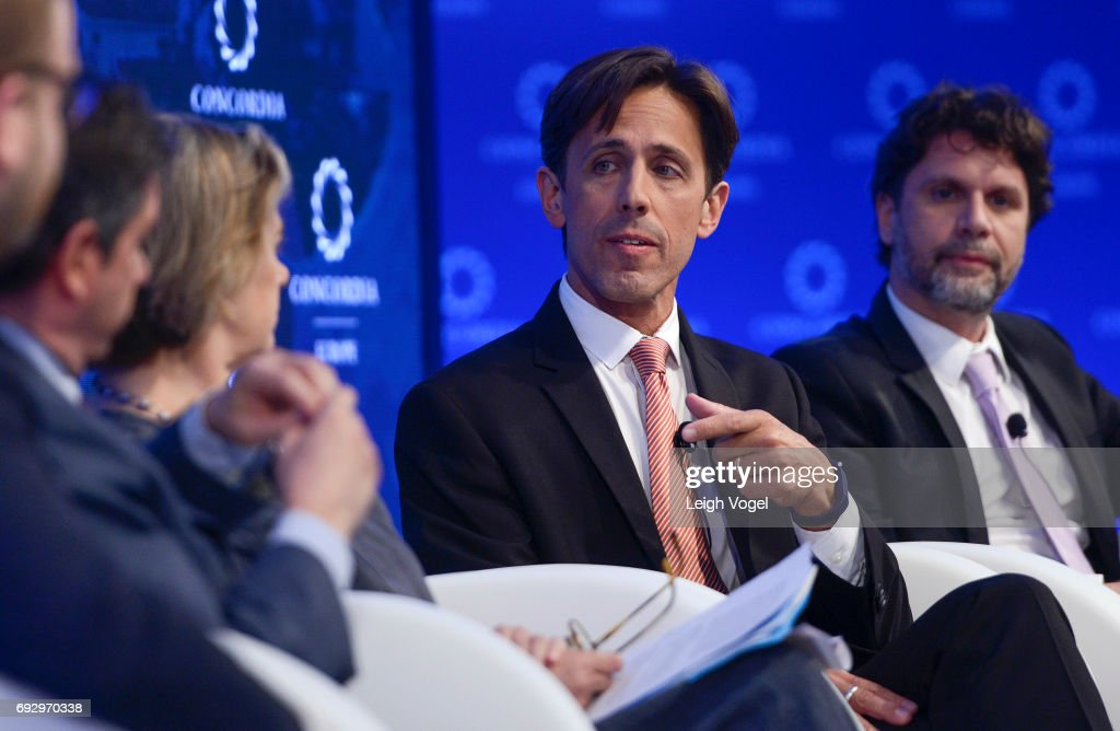 David Simas, Chief Executive Officer, Obama Foundation, speaks during the Concordia Europe Summit on June 6, 2017 in Athens, Greece.