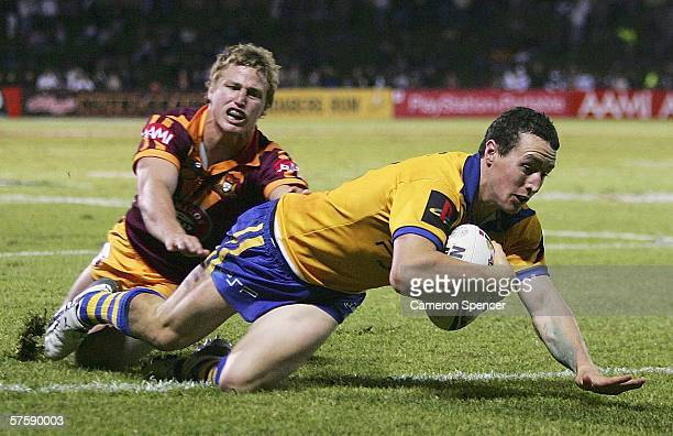 David Simmons of City scores a try during the NRL City v Country Origin match at Apex Oval May 12 2006 in Dubbo Australia