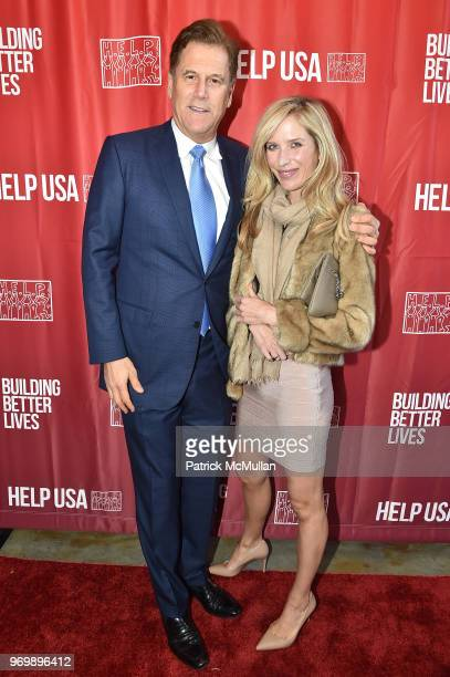 David Simon and Bianca Pratt attend the HELP USA Heroes Awards Gala at the Garage on June 4, 2018 in New York City.