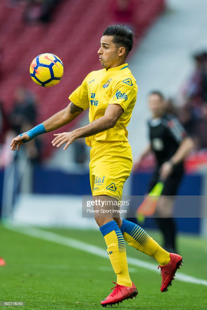 David Simon of UD Las Palmas during the La Liga 2017-18 match between Atletico de Madrid and UD Las Palmas at Wanda Metropolitano on January 28 2018 in Madrid, Spain.
