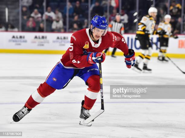 David Sklenicka of the Laval Rocket skates against the Providence Bruins during the AHL game at Place Bell on March 20 2019 in Laval Quebec Canada...