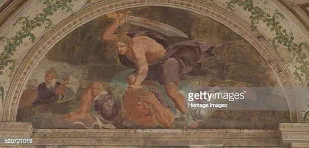 David slaying Goliath Found in the collection of Palazzo del Te Mantua