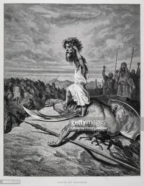 David slays Goliath Illustration from the Dore Bible 1866 In 1866 the French artist and illustrator Gustave Dore published a series of 241 wood...