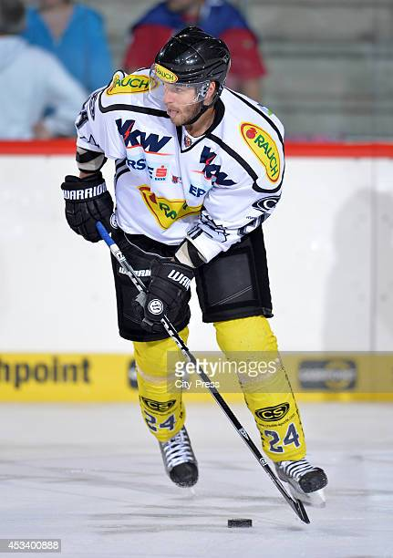 David Slivnik during a test game in Schwenningen Germany