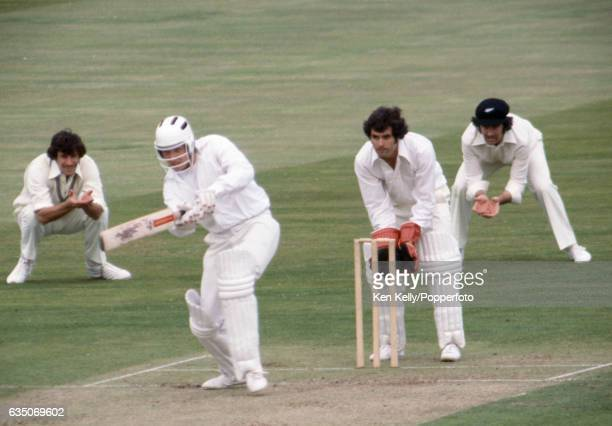 David Smith of Warwickshire wears a helmet while batting during the tour match between Warwickshire and New Zealand at Edgbaston Birmingham 12th July...