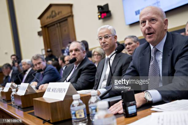 David Solomon chief executive officer of Goldman Sachs Co speaks during a House Financial Services Committee hearing in Washington DC US on Wednesday...