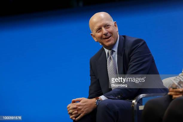 David Solomon copresident and cochief operating officer of Goldman Sachs Co speaks during the Milken Institute Global Conference in Beverly Hills...