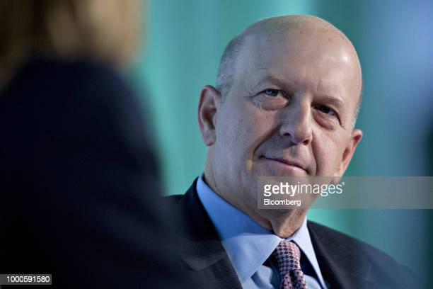 David Solomon, co-president and co-chief operating officer of Goldman Sachs & Co., listens during an interview at the Securities Industry And...