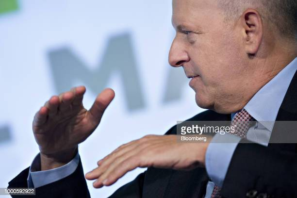 David Solomon, co-president and co-chief operating officer of Goldman Sachs & Co., speaks during an interview at the Securities Industry And...