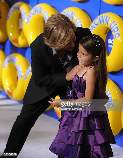 David Spade and Alexys Nycole Sanchez attend the premiere of Grown Ups at the Ziegfeld Theatre on June 23 2010 in New York City