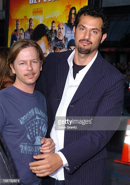 David Spade and Guy Oseary during The Longest Yard Los Angeles Premiere Arrivals at Grauman's Chinese Theatre in Hollywood California United States
