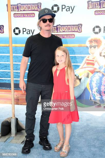 David Spade and Harper Spade attend the Columbia Pictures and Sony Pictures Animation's world premiere of 'Hotel Transylvania 3 Summer Vacation' at...