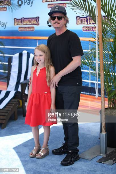 """David Spade and Harper Spade attend the Columbia Pictures and Sony Pictures Animation's world premiere of """"Hotel Transylvania 3: Summer Vacation"""" at..."""