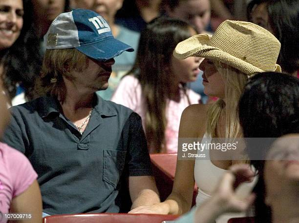 David Spade and Heather Locklear during David Spade and Heather Locklear Sighting at the GoGo's Concert at The Greek Theater July 14 2006 at The...