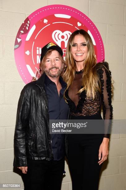 David Spade and Heidi Klum attend the 2017 iHeartRadio Music Festival at TMobile Arena on September 23 2017 in Las Vegas Nevada
