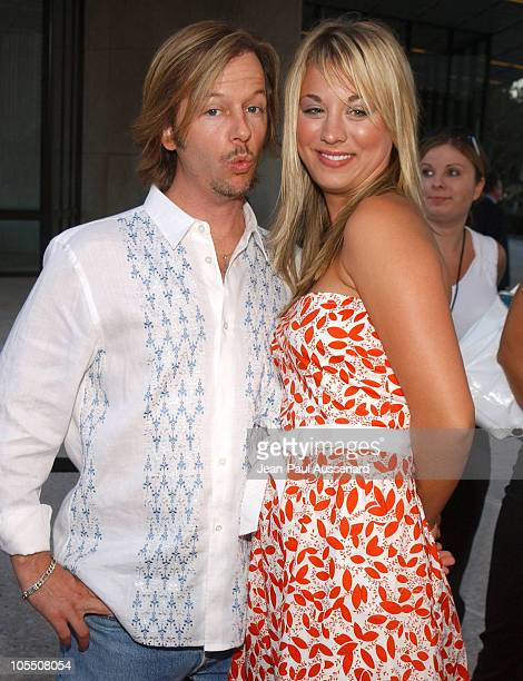 David Spade and Kaley Cuoco during 2004 ABC All Star Summer Party at C2 Cafe in Century City California United States
