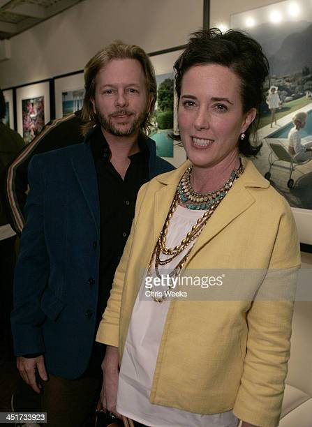 David Spade and Kate Spade during Photographer's Gallery Presents Slim Aarons Curated by Kate Spade at Fred Segal Cafe in West Hollywood California...