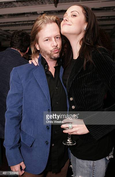 David Spade and Kim Lansing during Photographer's Gallery Presents Slim Aarons Curated by Kate Spade at Fred Segal Cafe in West Hollywood California...