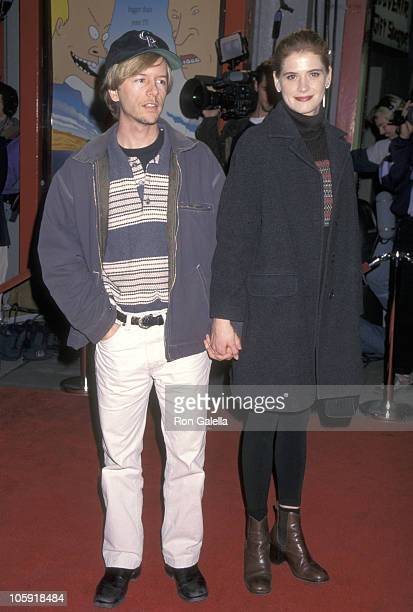 David Spade and Kristy Swanson during Beavis and Butthead Do America Los Angeles Premiere at Mann's Chinese Theater in Hollywood California United...