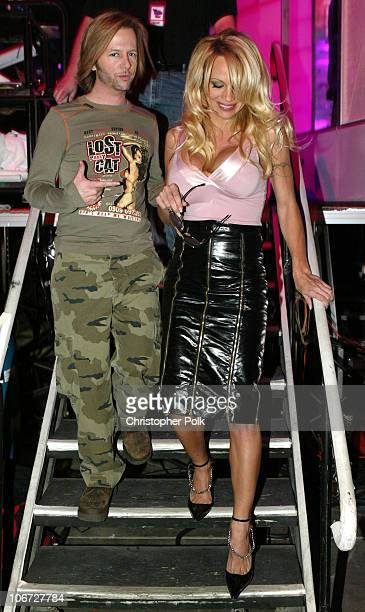 David Spade and Pamela Anderson during First Annual Spike TV Video Game Awards Show and Backstage at MGM Grand Casino in Las Vegas Nevada United...