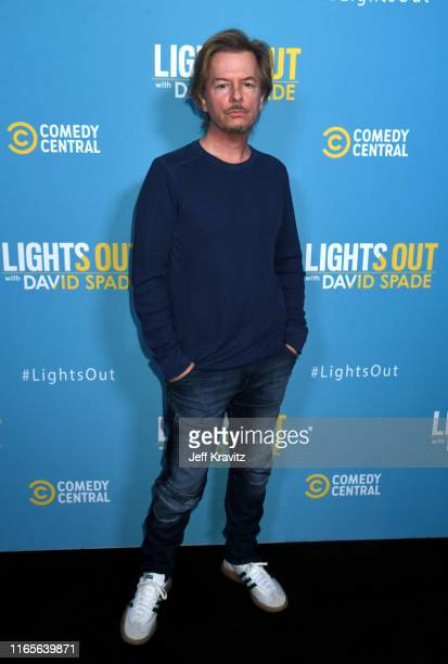 David Spade attends Comedy Central's Lights Out With David Spade new latenight series premiere party at Nightingale Plaza on August 01 2019 in Los...