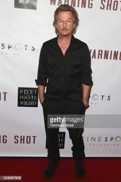 David Spade attends the Premiere Of Cinespots' Warning Shot at The WGA Theater on September 6 2018 in Beverly Hills California