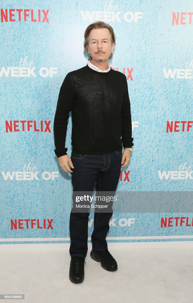 David Spade attends the World Premiere of the Netflix film 'The Week Of' at AMC Loews Lincoln Square 13 on April 23, 2018 in New York City.
