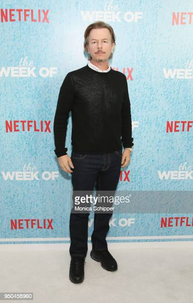 David Spade attends the World Premiere of the Netflix film The Week Of at AMC Loews Lincoln Square 13 on April 23 2018 in New York City