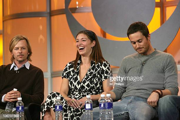 David Spade Bianca Kajlich and Oliver Hudson of Rules of Engagement