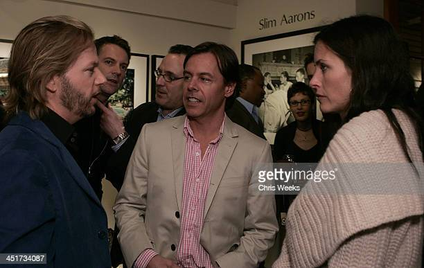 David Spade Courteney Cox Arquette and Andy Spade