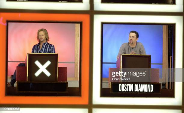 David Spade Dustin Diamond during David Spade and CoStars from Paramount Pictures' 'Dickie Roberts Former Child Star' Tape Hollywood Squares at CBS...